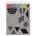 Ranger Dylusions Stencil, Large - 2 inch Quilt DYS75332