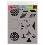 Ranger Dylusions Stencil, Large - 1.5 inch Quilt DYS75349