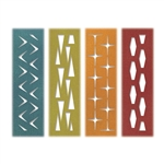 Tim Holtz Sizzix Thinlits Die Set 4PK - Retro Repeat by Tim Holtz