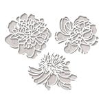 Sizzix Tim Holtz Thinlits Die Set 3PK - Cutout Blossoms