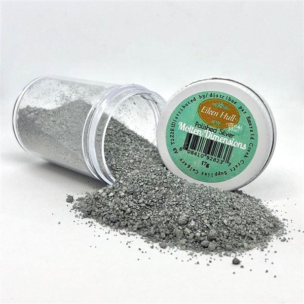 Emerald Creek Eileen Hull Molten Dimension Embossing Powder - Polished Silver 17g