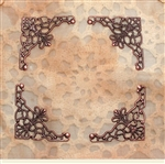 Antiqued Copper Triangle Filigree Pieces - Set of 4