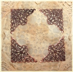 Large Antiqued Copper Triangle Filigree Pieces - Set of 4