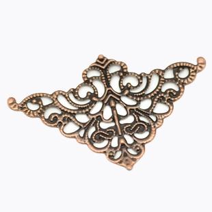 corner filigree metal pieces copper