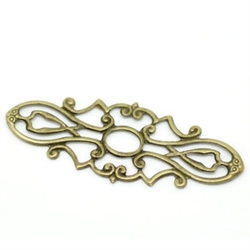 Antiqued Bronze Filigree Pieces - Set of 4