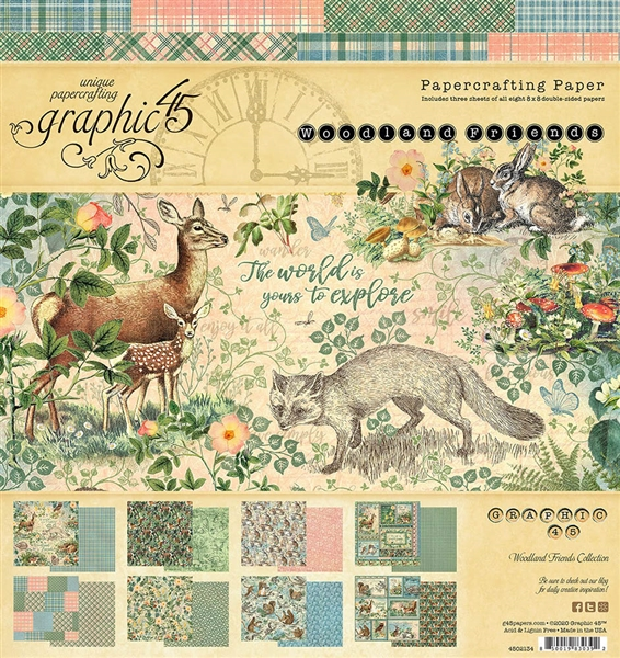 Graphic 45 Woodland Friends 8x8 Collection 4502134