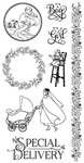 Graphic 45 - Precious Memories Cling Stamp 3 IC0331S