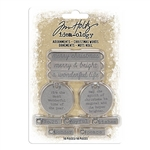Tim Holtz Idea-ology Adornments, Christmas Words TH93991