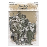 Tim Holtz Idea-ology Paper Dolls, Christmas TH94001