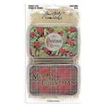 Tim Holtz Idea-ology Trinket Tins, Christmas TH94005