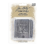Tim Holtz Idea-ology Stencil Chips, Silver TH94018