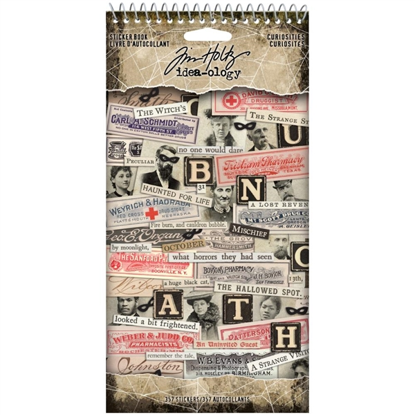 Tim Holtz Idea-ology Sticker Book - Curiosities TH94059
