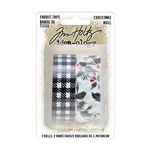 Tim Holtz Idea-ology Fabric Tape Christmas TH94095