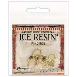 Ice Resin Findings, S Hooks & Jump Rings Antique Bronze