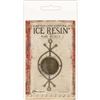 Ice Resin Rune Bezel Antique Bronze Round