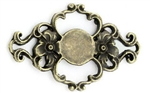 Antiqued Bronze Tone Cabochon Settings - Set of 2