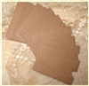 Dark Brown Mini Kraft Sleeves - Set of 10
