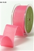 May Arts 1.5 inch Solid/Wired Ribbon Iridescent Pink