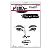 Ranger Dina Wakley MEdia Stamps - Fierce MDR69577