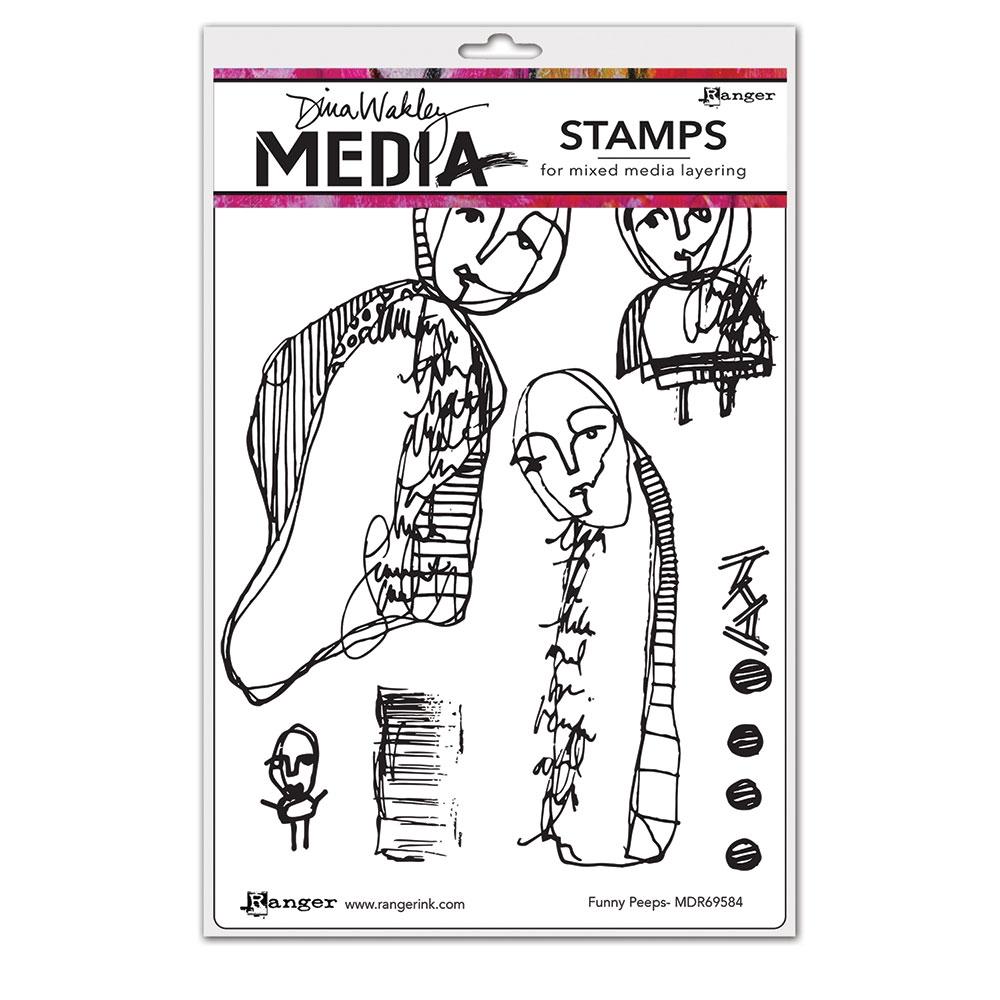 Ranger Dina Wakley I Spill Unmounted Rubber Stamps mdr68587