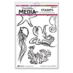 Ranger Dina Wakley MEdia Stamps - Scribbly Reef Creatures MDR69591