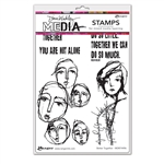 Ranger Dina Wakley MEdia Stamps - Better Together MDR74496