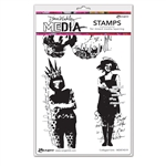 Ranger Dina Wakley MEdia Stamps - Collaged Girls MDR74519