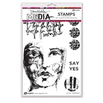 Ranger Dina Wakley MEdia Stamps - Say Yes MDR74533