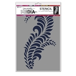 Ranger Dina Wakley MEdia Stencil - Giant Flourish MDS74564