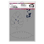 Ranger Dina Wakley MEdia Stencil - Tropical Masks MDS74595