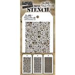 Stampers Anonymous Tim Holtz Mini Stencils Set #46  MST046