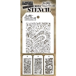 Stampers Anonymous Tim Holtz Mini Stencils Set #47  MST047