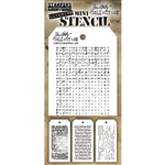 Stampers Anonymous Tim Holtz Mini Stencils Set #48  MST048