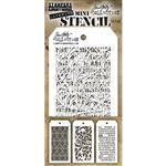 Stampers Anonymous Tim Holtz Mini Layering Stencil Set #49