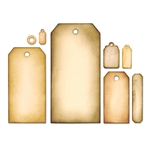 Tim Holtz Sizzix Framelits Die Set 8PK - Tag Collection 658784