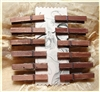 Mini Distressed Clothes Pins - 1.87 Inches - Set of 12