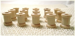 "Mini Wooden Spools - 5/8"" tall"