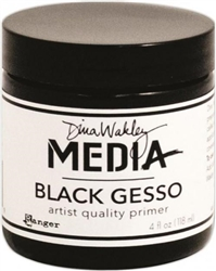 Dina Wakley Media Mediums - Black Gesso - 4 oz. Jar MDM41719