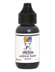 Dina Wakley Media Acrylic Paint  - Black, 1oz Bottle