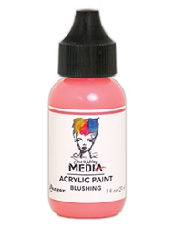 Dina Wakley Media Acrylic Paint  - Blushing, 1oz Bottle