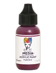 Dina Wakley Media Acrylic Paint  - Fuchsia, 1oz Bottle