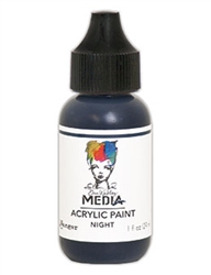 Dina Wakley Media Acrylic Paint  - Night, 1oz Bottle