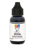 Dina Wakley Media Acrylic Paint  - Black Gesso, 1 oz Bottle