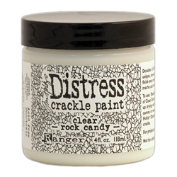 Ranger Distress Crackle Paint - Clear Rock Candy 4 oz size