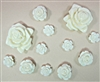 Set of 12 Resin Roses for Scrapbooking and Mixed Media