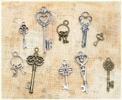 Set of 10 Metal Keys