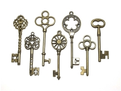 Large Metal Keys - Set of 7