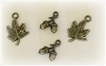 Bronze Charms - Acorns and Maples Leaves