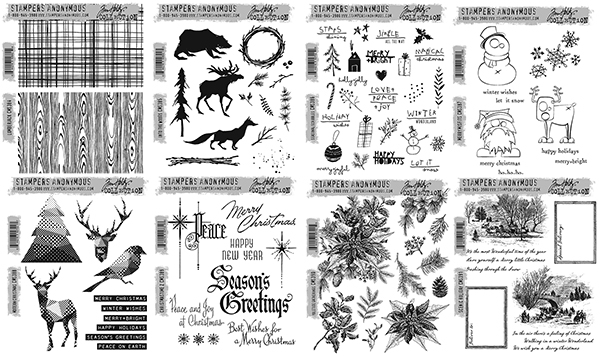 New Products For Christmas 2019 Stampers Anonymous Tim Holtz 2019 Christmas Stamp Set Bundle