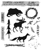 (OCTOBER PRE-ORDER)  Tim Holtz Cling Stamps - Into The Woods CMS385